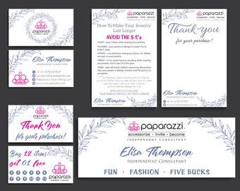 Paparazzi Marketing Kit, Paparazzi Starter Bundle, Paparazzi Flower Cards, Free Personalization, Printable file PP22