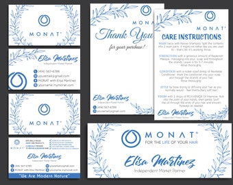 Monat Starter kit, Custom Monat Business Card, Monat Hair Care, Monat Global, Monat starter Pack, Printable Card MN45