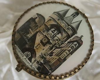 ancienne boite-coffret à bijoux ou autre, souvenir de Bordeaux ancien Beffroi-old box jewelery box or other, memory of Bordeaux old Belfry