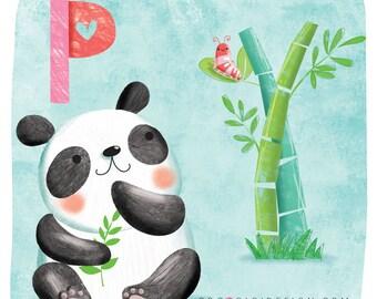 Panda - Square print