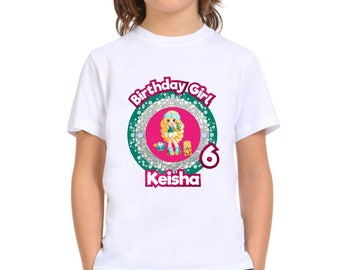 Personalized Daisy Petals Shoppie Shopkins Birthday Girl Tshirt Party Tee Shirt Iron On Transfer Image Printable DIY - Digital File