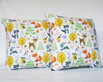Woodland Creatures Cushion