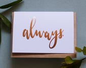 Always - Greeting Card - Gold Foil - Harry Potter - A6