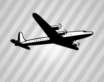 Airplane Silhouette - Svg Dxf Eps Silhouette Rld Rdworks Pdf Png Ai Files Digital Cut Vector File Svg File Cricut Laser Cut