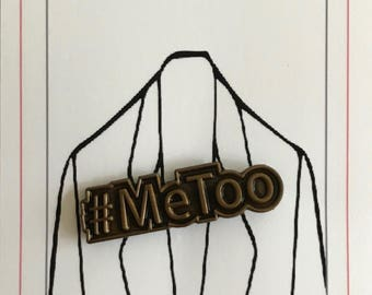 MeToo lapel pin