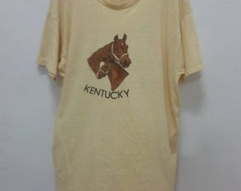 Discount 30%!! USD35 Include Shipping!! Rare!! Vintage 70s Kentucky T Shirt