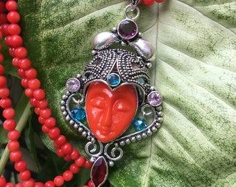 Carved Goddess Face