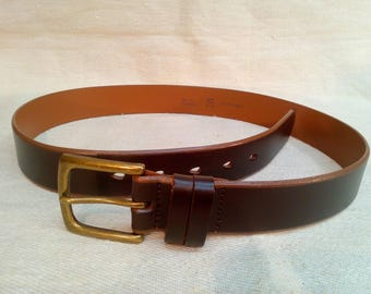 Leather Brown Belt.made in Germany.
