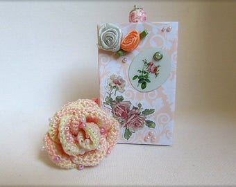 Pastel pink with crochet beads in its gift box