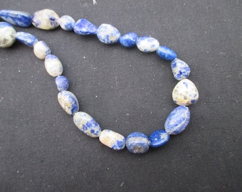 Lapis lazuli: 3 beads rolled from 13 to 17 mm - gemstones