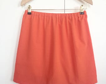 "Skirt ""April"" in coral satin"