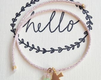 """Bird"" tie bracelet"