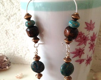 Large Stud Earrings, ethnic, Jasper