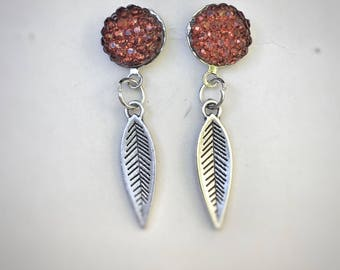 "Earrings ""feathers"" - summer 2017 Collection-"