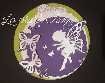 Fairy and Butterfly christening or birth announcements