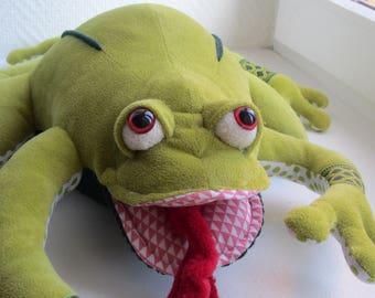Stuffed toy frog