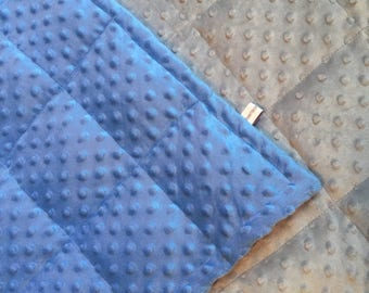 minky weighted blankets 35X50 and 40X60.gray primary color