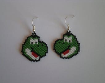 "Earrings ""character"" miyuki beads."