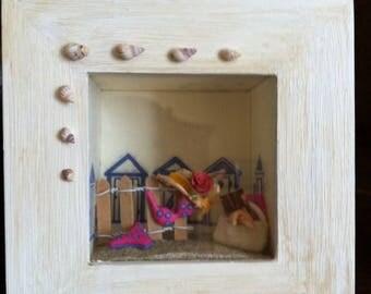 Mini display miniature spirit Beach