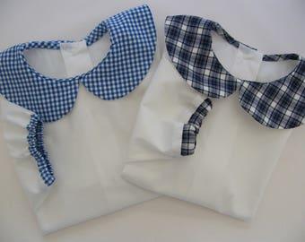 Blouse shirt White Poplin, Peter Pan collar 3/6/12/18 month choice