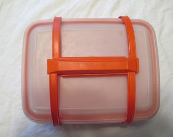 Vintage Tupperware Storage, Lunch Box, Picnic Container  With Carry Handle