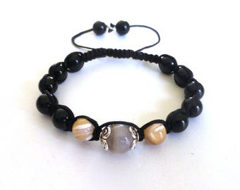 Bracelet cameos, mother of Pearl, agate and onyx - No. 169