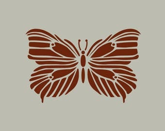 The butterfly. Adhesive vinyl stencil. (ref 162)