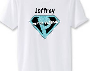 Great sponsor man white t-shirt personalized with name