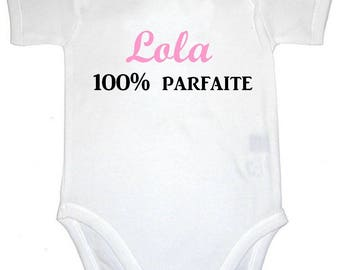 Onesie 100% perfect personalized with name