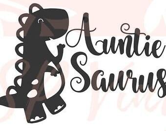 Auntie Saurus SVG file