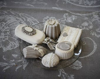 Fragrant and weathered plaster sweets plate
