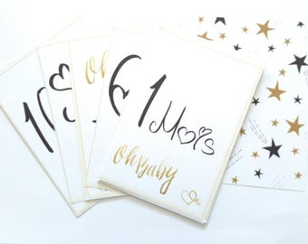 Card set of 24 cards 1a12 baby step today & month...