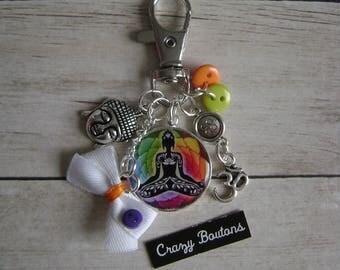 Keychain / bag Buddha charm