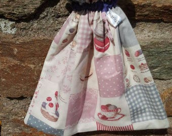 "Backpack blanket pattern ""breakfast"" toy bag, lunch bag in the cupcake"