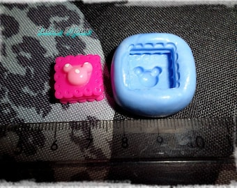 Cake mold delicious minnie for polymer clay 1.5 cm