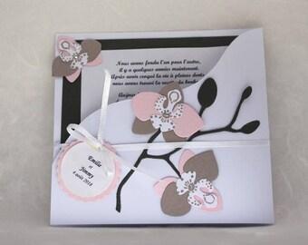 Do share theme Orchid theme - make wedding invitation