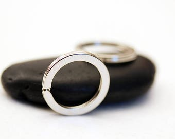 set of 3 rings KEYCHAIN silver 25mm