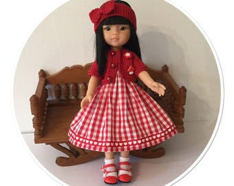 Red gingham doll clothes Paola Reina