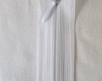 White lightning PRESTIL 40 cm Invisible zipper