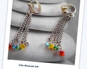 Clips for non-pierced colorful earrings