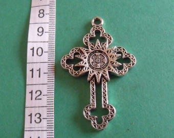 Silver cross pendant 53mmx33mm