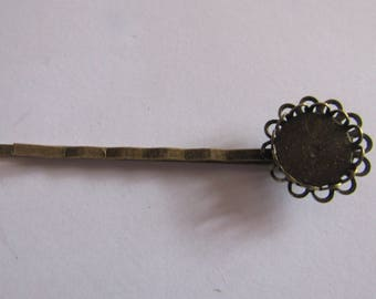 61mm bronze barrette for cabochon 12mm