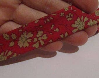 50cm red and beige liberty bias 23mm wide