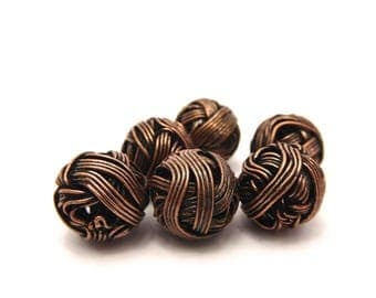 11 pearls 14 mm copper wire ball