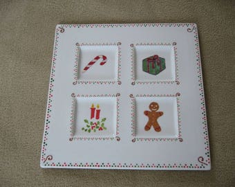 Free shipping! Porcelain Christmas plate