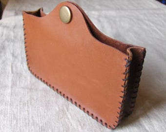 Light brown Handmade Leather phone case