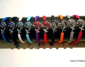 Braided bracelet Dolphin