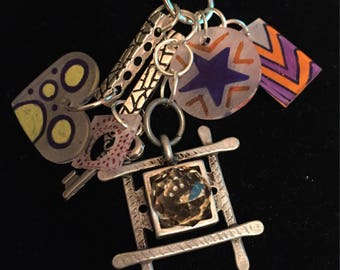 Shrinky dink pendant necklace with Amy Labbe charm
