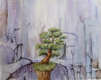 The last tree surreal landscape