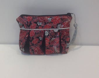 Bag, clutch bag in Japanese fabric